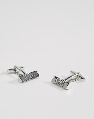 Burton Menswear Серебристые запонки. Цвет: серебряный