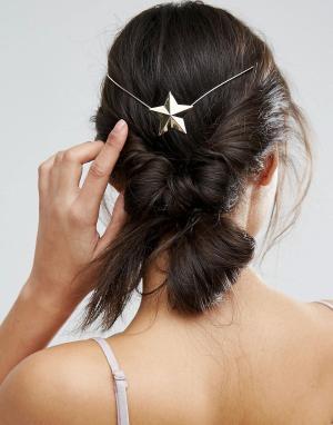ASOS Украшение для волос ограниченной серии со звездой. Цвет: золотой