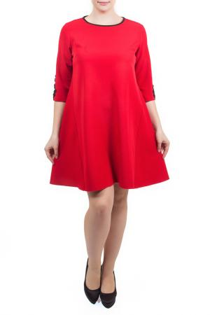 Свободное платье с рукавами 1/2 Piena. Цвет: красный