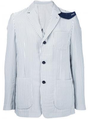 Пиджак в полоску Hickory Sacai. Цвет: белый