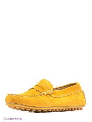 Мокасины ECCO. Цвет: желтый