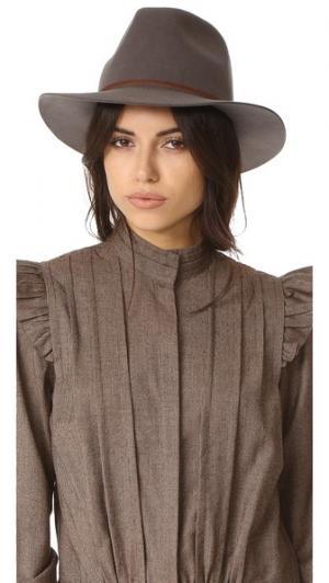 Шляпа-федора Wesley Brixton. Цвет: серый
