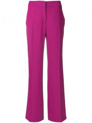 Строгие прямые брюки Nº21. Цвет: розовый и фиолетовый