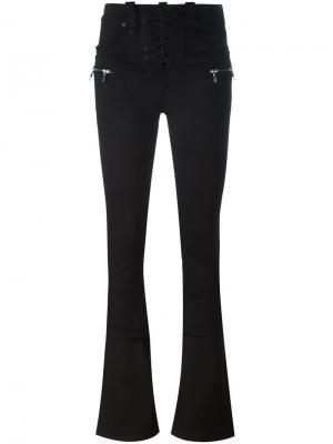 Слегка расклешенные джинсы Unravel Project. Цвет: чёрный