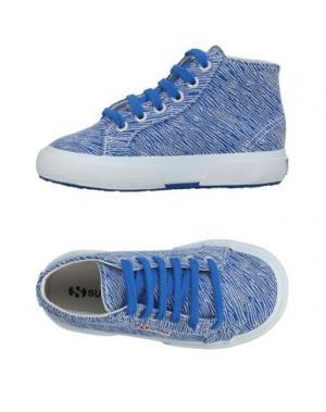 Высокие кеды и кроссовки SUPERGA®. Цвет: синий