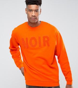 ASOS Оверсайз-свитшот с вышивкой TALL. Цвет: оранжевый