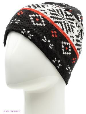 Шапка BUFF KNITTED HATS JORDEN BLACK. Цвет: черный, красный, белый