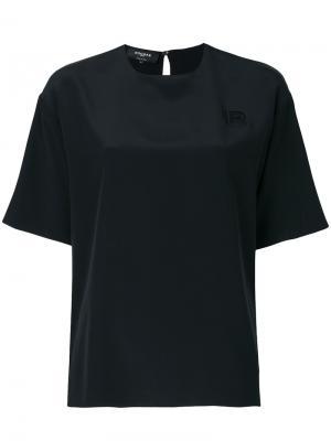 Блузка с вышивкой Rochas. Цвет: чёрный
