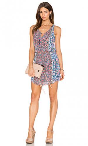 Мини платье majorelle Rory Beca. Цвет: персиковый
