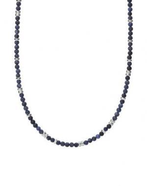 Ожерелье FOSSIL. Цвет: синий