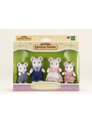 Набор Семья Белых Мышей (3111) Sylvanian Families. Цвет: белый