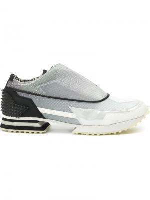 Фактурные кроссовки Alberto Premi. Цвет: серый