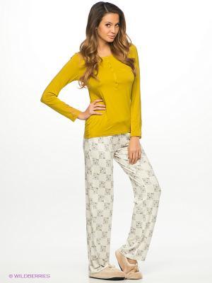 Комплект одежды HAYS. Цвет: горчичный, молочный