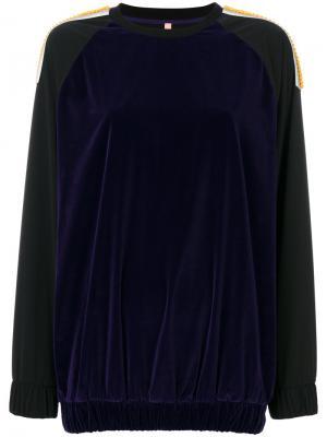 Embroidered sweatshirt No Ka Oi Ka'. Цвет: чёрный