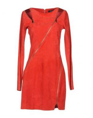 Короткое платье JITROIS. Цвет: медный