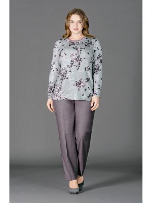 Блуза LALIS. Цвет: серый