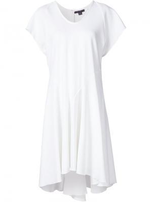 Расклешенное платье свободного кроя Ellery. Цвет: белый