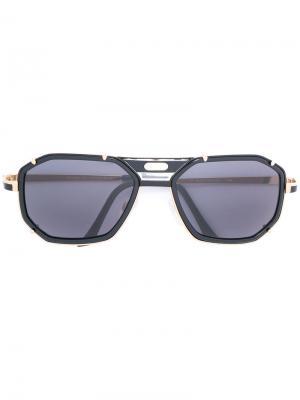 Крупные солнцезащитные очки Cazal. Цвет: чёрный