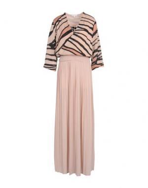 Длинное платье PATRIZIA PEPE. Цвет: песочный