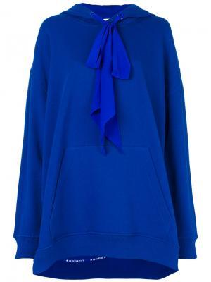 Толстовка мешковатого кроя с капюшоном Givenchy. Цвет: синий