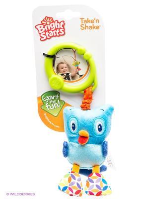 Развивающая игрушка Дрожащий дружок, Сова BRIGHT STARTS. Цвет: голубой