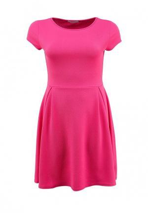 Платье Amplebox Size Plus. Цвет: розовый