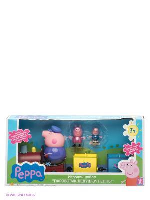 Паровозик дедушки Пеппы, со звуком, Свинка Пеппа Peppa Pig. Цвет: розовый, желтый, синий, фиолетовый
