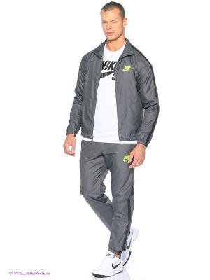 Спортивный костюм M NSW TRK SUIT WVN SEASON Nike. Цвет: темно-серый, светло-зеленый