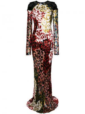 Платье Noisiel Talbot Runhof. Цвет: многоцветный