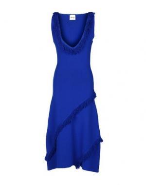 Платье длиной 3/4 AKEP. Цвет: ярко-синий