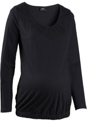 Мода для беременности и после родов: футболка с длинным рукавом (сине-зеленый) bonprix. Цвет: сине-зеленый