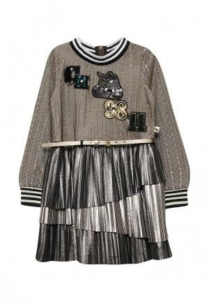 Платье Choupette. Цвет: коричневый