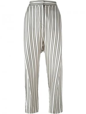 Полосатые брюки Alberto Biani. Цвет: серый