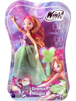Кукла Winx Club Чудесная Сиреникс Флора. Цвет: зеленый, фиолетовый