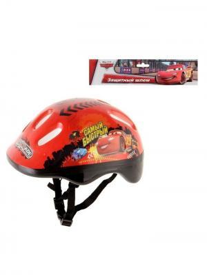 Шлем защитный детский Тачки Disney. Цвет: красный, черный