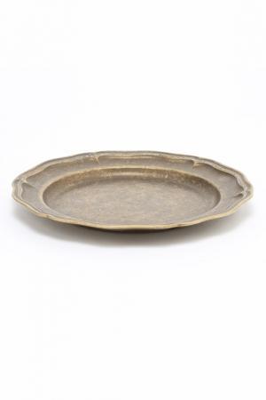 Блюдо 20 см Stilars. Цвет: бронзовый