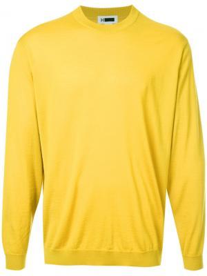 Свитер с  круглым вырезом H Beauty&Youth. Цвет: жёлтый и оранжевый