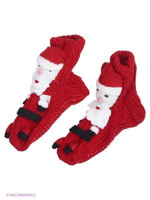 Носки для дома Burlesco. Цвет: красный, белый
