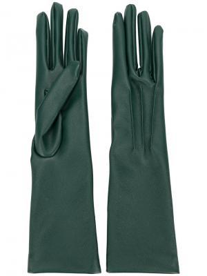 Длинные перчатки Stella McCartney. Цвет: зелёный