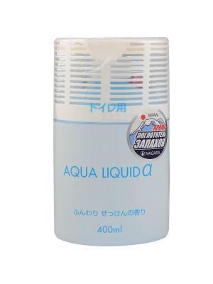Nagara Aqua liquid Арома-поглотитель запахов для туалета Мыло 400 мл. Цвет: белый