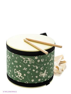 Большой барабан PLAN TOYS. Цвет: зеленый