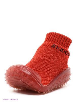 Пинетки SKIDDERS. Цвет: красный