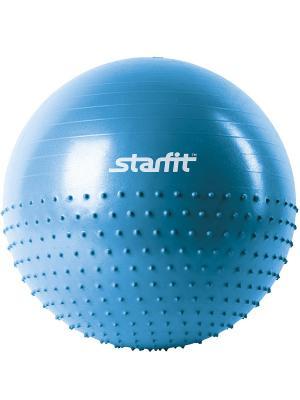 Мяч гимнастический полумассажный STARFIT GB-201 55 см, синий (антивзрыв) 1/10. Цвет: синий
