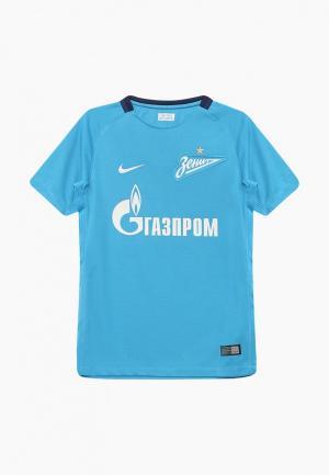 Футболка спортивная Nike. Цвет: голубой