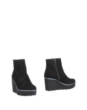 Полусапоги и высокие ботинки MARIAN. Цвет: черный