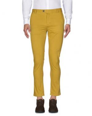 Повседневные брюки DAVID NAMAN. Цвет: охра