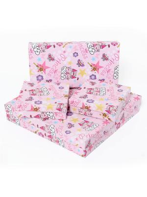 Подарочная коробка VELD-CO. Цвет: фуксия, желтый, розовый