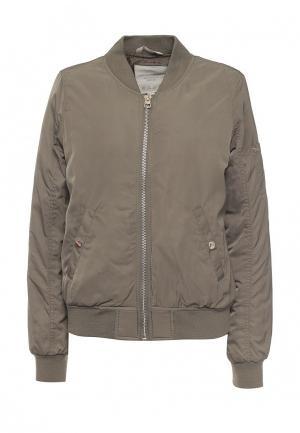 Куртка утепленная Tom Tailor Denim. Цвет: хаки