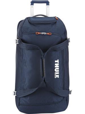 Дорожная сумка на колесах Thule Crossover. Цвет: темно-синий
