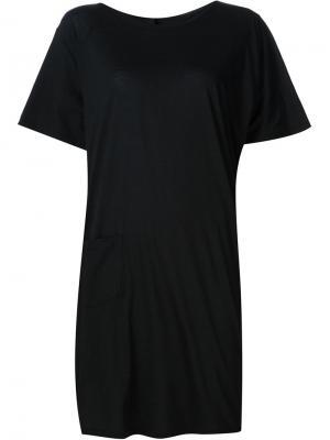 Платье-футболка  Forme Dexpression D'expression. Цвет: чёрный